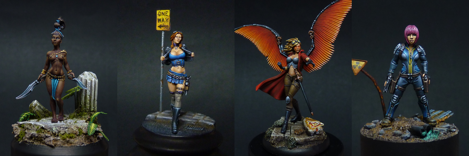 Minis I painted at the end of 2015 and start of 2016